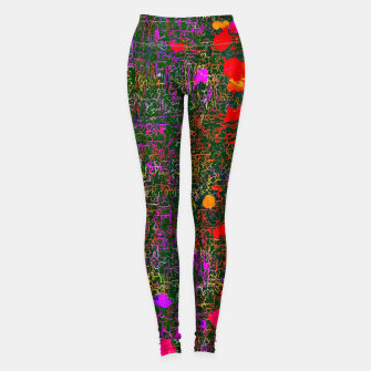 Miniaturka psychedelic abstract art texture background in purple red orange pink Leggings, Live Heroes