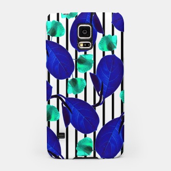 Thumbnail image of Blue Leaves + Aqua Poppies Samsung Case, Live Heroes