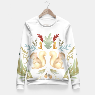 Miniatur autumn squirrels  Fitted Waist Sweater, Live Heroes
