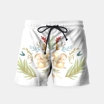 Miniatur autumn squirrels  Swim Shorts, Live Heroes