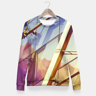 Miniatur Facade in front of the mountains 2 Fitted Waist Sweater, Live Heroes