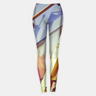 Miniatur Facade in front of the mountains 2 Leggings, Live Heroes