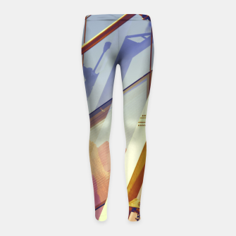Miniatur Facade in front of the mountains 2 Girl's Leggings, Live Heroes