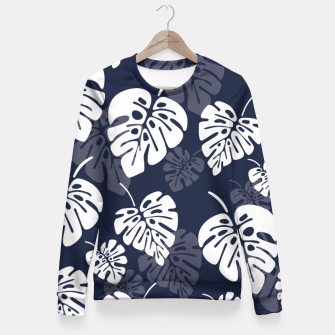 Miniatur Tropical pattern 004 Fitted Waist Sweater, Live Heroes