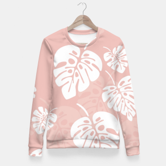 Miniatur Tropical pattern 005 Fitted Waist Sweater, Live Heroes