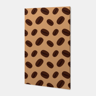Thumbnail image of Cool Brown Coffee beans pattern Canvas, Live Heroes