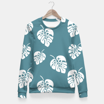 Miniatur Tropical pattern 006 Fitted Waist Sweater, Live Heroes