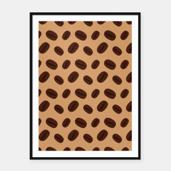 Miniatur Cool Brown Coffee beans pattern Framed poster, Live Heroes