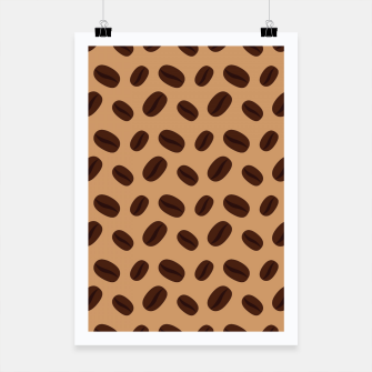 Thumbnail image of Cool Brown Coffee beans pattern Poster, Live Heroes