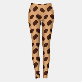 Thumbnail image of Cool Brown Coffee beans pattern Leggings, Live Heroes
