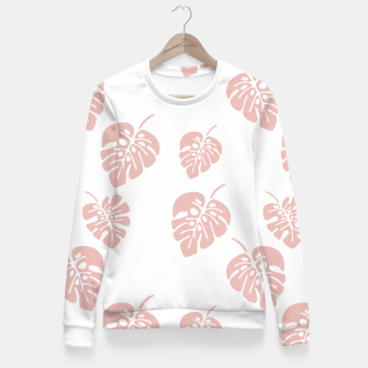 Miniatur Tropical pattern 007 Fitted Waist Sweater, Live Heroes