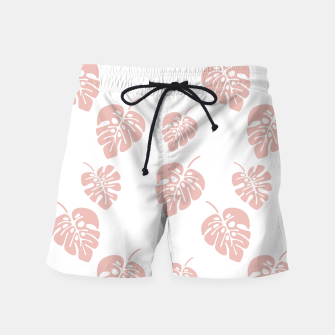 Miniatur Tropical pattern 007 Swim Shorts, Live Heroes