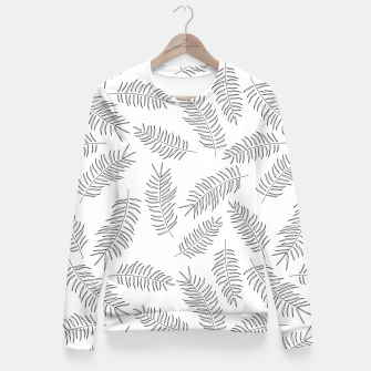 Miniatur Tropical pattern 008 Fitted Waist Sweater, Live Heroes