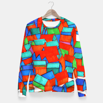 Thumbnail image of Whole hillside of houses Fitted Waist Sweater, Live Heroes