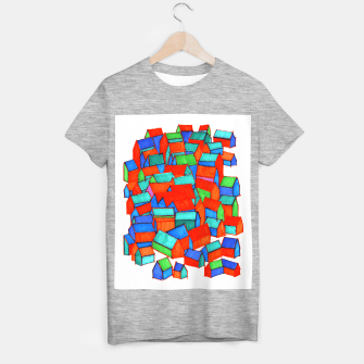 Miniatur Whole hillside of houses T-shirt regular, Live Heroes