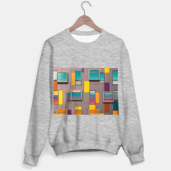 Miniatur Facade in front of the mountains Sweater regular, Live Heroes