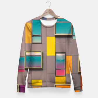 Miniatur Facade in front of the mountains Fitted Waist Sweater, Live Heroes