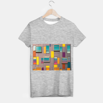 Miniatur Facade in front of the mountains T-shirt regular, Live Heroes