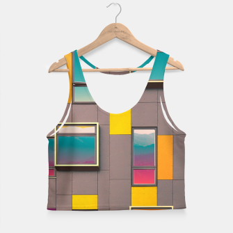 Miniatur Facade in front of the mountains Crop Top, Live Heroes