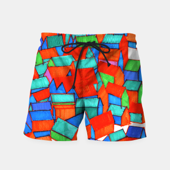 Miniatur Whole hillside of houses Swim Shorts, Live Heroes