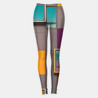 Miniatur Facade in front of the mountains Leggings, Live Heroes