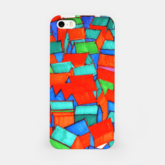 Miniatur Whole hillside of houses iPhone Case, Live Heroes