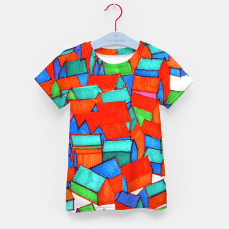 Miniatur Whole hillside of houses Kid's T-shirt, Live Heroes