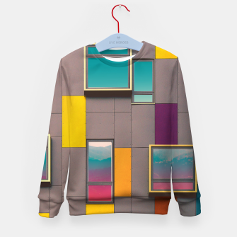 Miniatur Facade in front of the mountains Kid's Sweater, Live Heroes