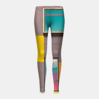 Miniatur Facade in front of the mountains Girl's Leggings, Live Heroes