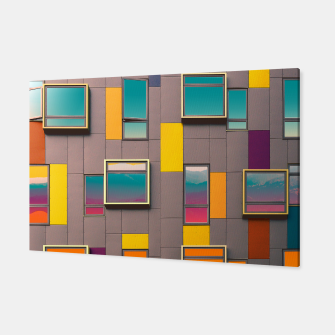 Miniatur Facade in front of the mountains Canvas, Live Heroes