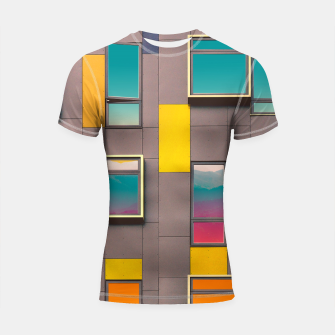 Thumbnail image of Facade in front of the mountains Shortsleeve Rashguard, Live Heroes
