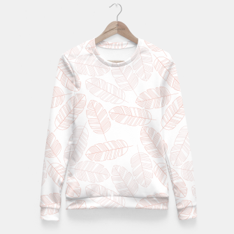 Miniatur Tropical pattern 012 Fitted Waist Sweater, Live Heroes