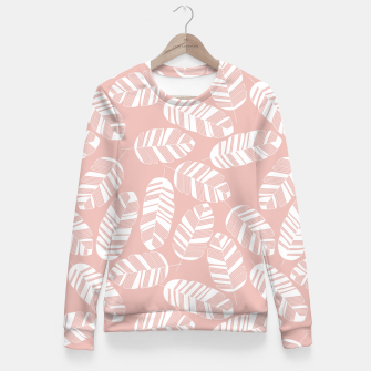 Miniatur Tropical pattern 014 Fitted Waist Sweater, Live Heroes