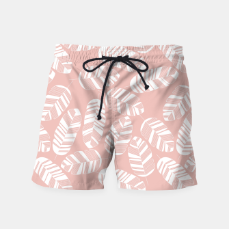 Miniatur Tropical pattern 014 Swim Shorts, Live Heroes