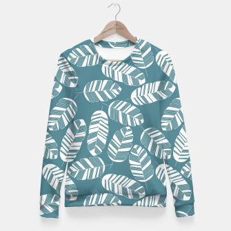 Miniatur Tropical pattern 015 Fitted Waist Sweater, Live Heroes