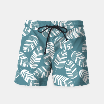 Miniatur Tropical pattern 015 Swim Shorts, Live Heroes