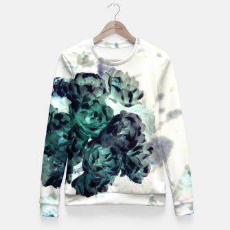Miniatur Negative Flower Fitted Waist Sweater, Live Heroes
