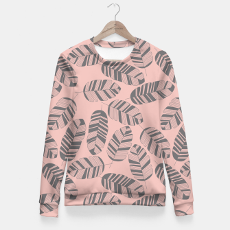 Miniatur Tropical pattern 016 Fitted Waist Sweater, Live Heroes