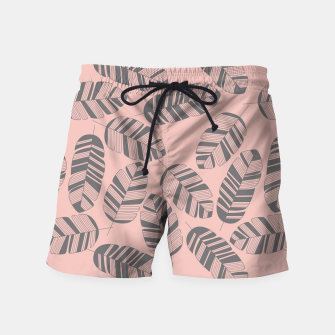 Miniatur Tropical pattern 016 Swim Shorts, Live Heroes