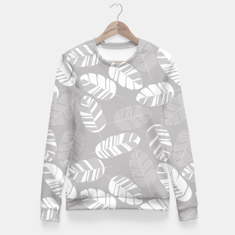 Miniatur Tropical pattern 018 Fitted Waist Sweater, Live Heroes
