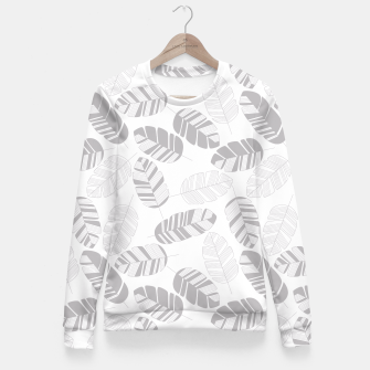 Miniatur Tropical pattern 019 Fitted Waist Sweater, Live Heroes