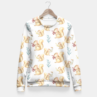 Thumbnail image of love squirrels  Fitted Waist Sweater, Live Heroes