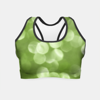 Thumbnail image of Sparkly Greenery Pantone bokeh Crop Top, Live Heroes