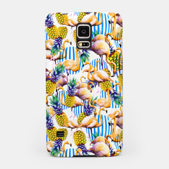 Flamenco tropical pattern and pineapple Carcasa por Samsung imagen en miniatura