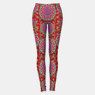Miniatur Hearts can also be flowers such as bleeding hearts pop art Leggings, Live Heroes