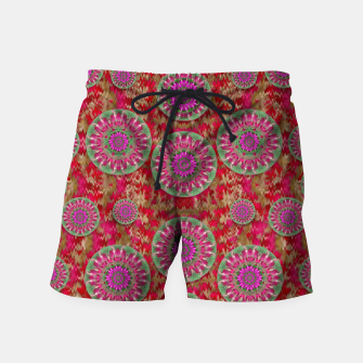 Miniatur Hearts can also be flowers such as bleeding hearts pop art Swim Shorts, Live Heroes