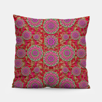 Miniatur Hearts can also be flowers such as bleeding hearts pop art Pillow, Live Heroes