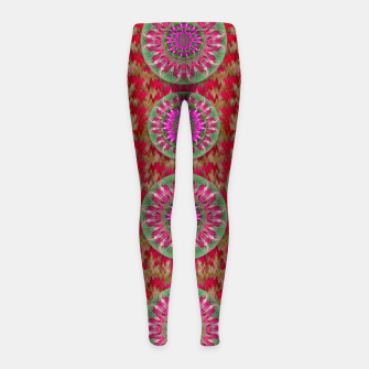 Miniatur Hearts can also be flowers such as bleeding hearts pop art Girl's Leggings, Live Heroes