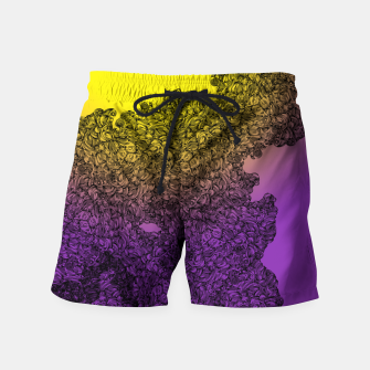 Thumbnail image of Red Sun Swim Shorts, Live Heroes