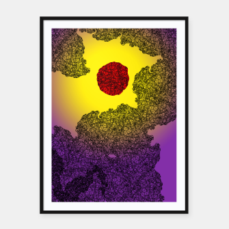 Thumbnail image of Red Sun Framed poster, Live Heroes